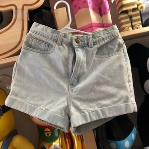 American Apparel high waist shorts